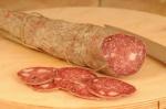 Salami with lard